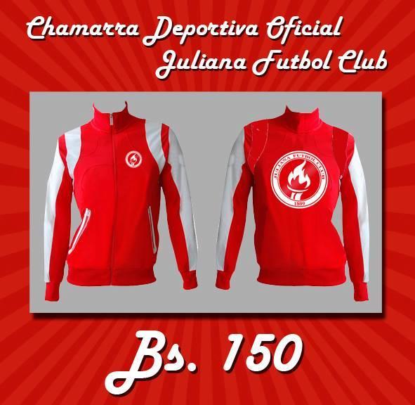CHAMARRA DEPORTIVA OFICIAL JULIANA FUTBOL CLUB